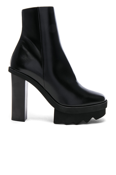 Stella McCartney Platform Ankle Boots in Black