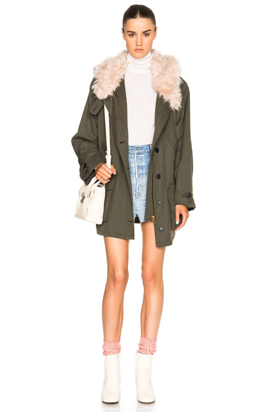 Anorak with Faux Fur Collar at FORWARD by elyse walker