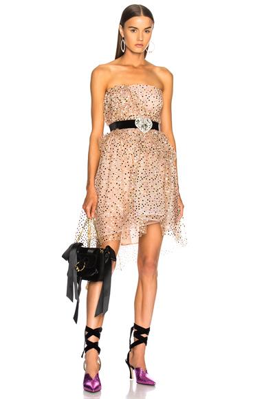 Sandra Mansour Cordelia Dress in Neutrals, Pink