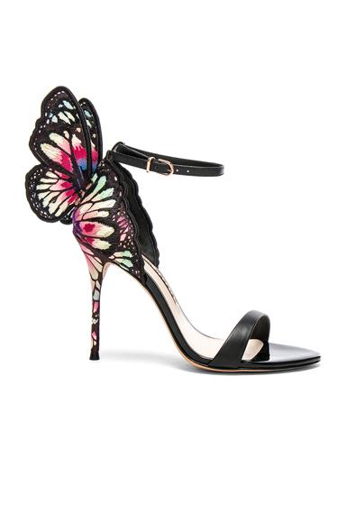 Sophia Webster Chiara Embroidery Sandals in Black