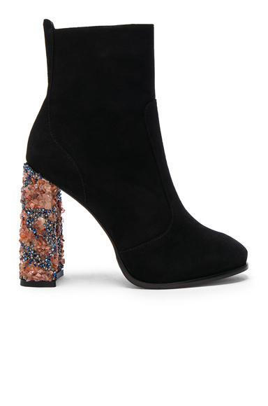 Sophia Webster Kendra Suede Ankle Boots in Black