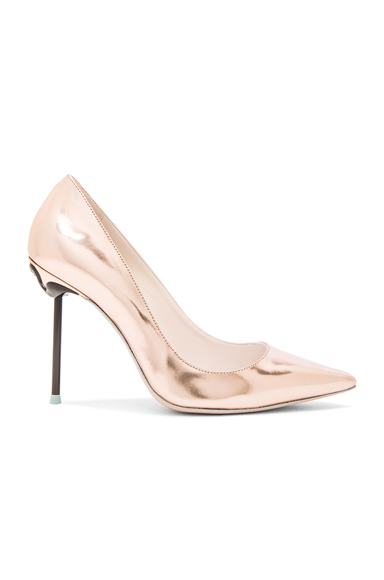 Sophia Webster Coco Flamingo Leather Heels in Metallics