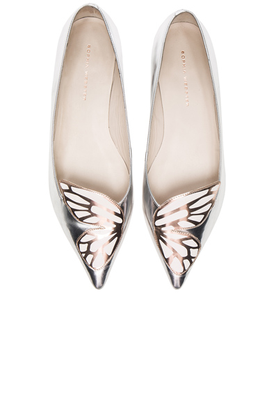 Sophia Webster Leather Bibi Butterfly Flats in Metallics