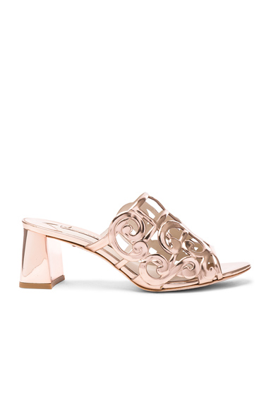 Sophia Webster Leather Birdie Mules in Metallics, Pink