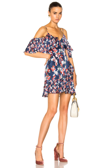 Tanya Taylor Amylia Dress in Blue, Floral