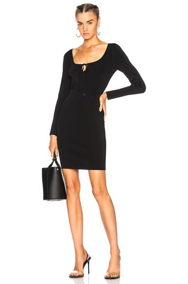 T by Alexander Wang Long Sleeve Mini Dress in Black
