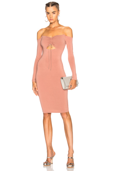 T by Alexander Wang Cut Out Mini Dress in Pink