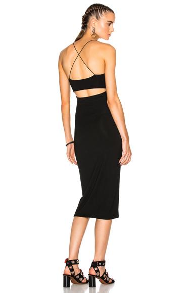 T by Alexander Wang Modal Spandex Strappy Tank Dress in Black