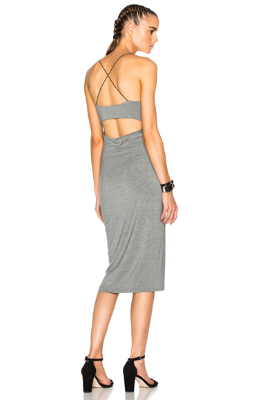T by Alexander Wang Strappy Tank Dress in Gray