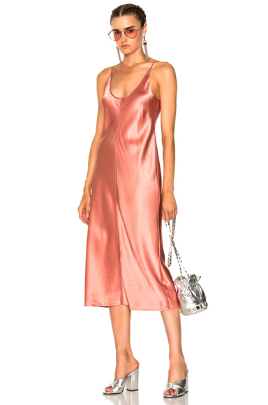 T by Alexander Wang Slip Dress with Threadwork in Pink
