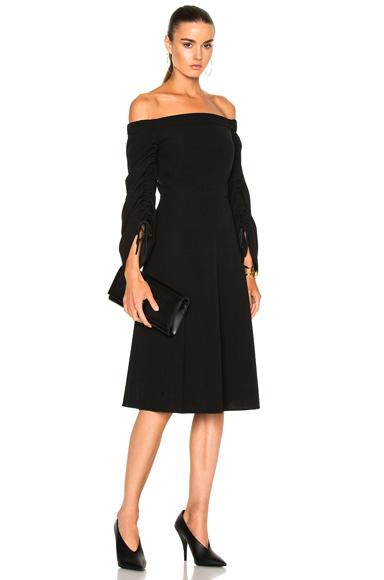 Tibi Tie Sleeve Dress in Black