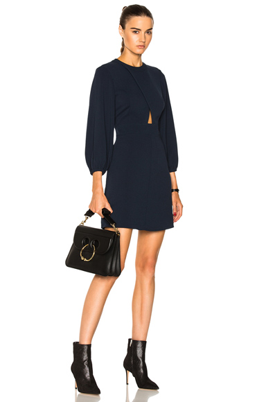 Tibi Cut Out Mini Dress in Blue