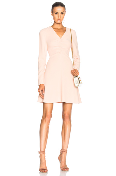 Tibi V Neck Dress in Pink