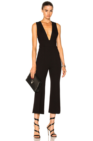 Tibi Tailored Jumpsuit in Black