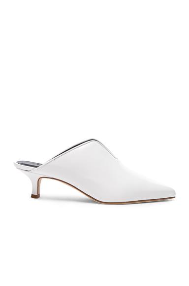 Tibi Dana Leather Mules in White