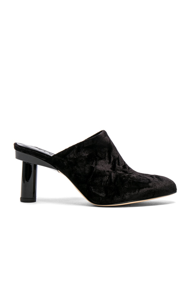 Tibi Zoe Velvet Heels in Black