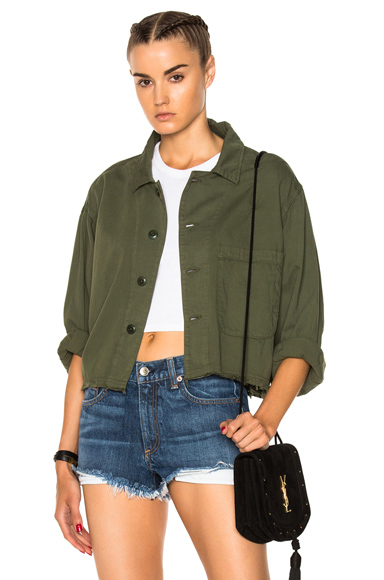 The Great Cropped Army Jacket in Green