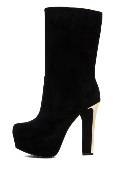 THEYSKENS' THEORY | Emilie Aved Suede Crop Boot in Black