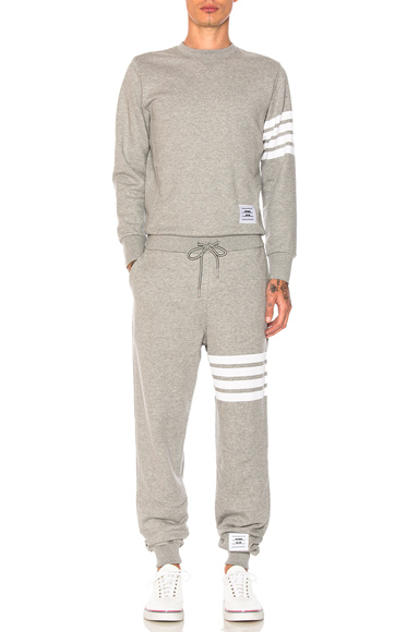 Thom Browne Trompe L'Oeil Sweatsuit in Gray. - size 0 (also in 3,4)