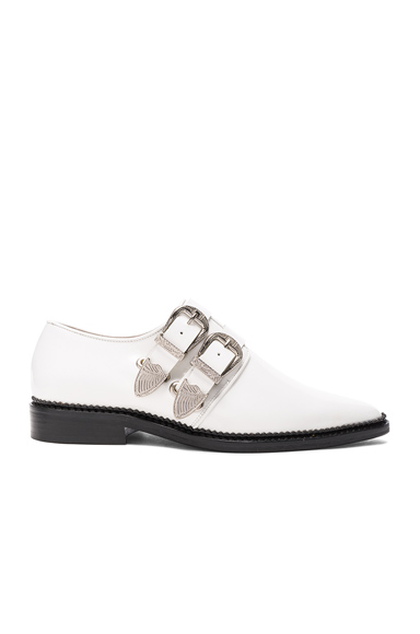 TOGA PULLA Leather Oxfords in White