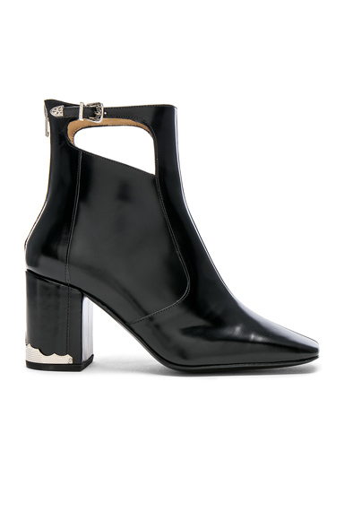 TOGA PULLA Leather Boots in Black