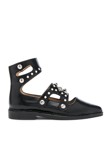 TOGA PULLA Cut Out Leather Boots in Black