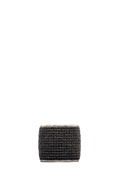 TOM BINNS | Bejeweled Plated Ring in Black