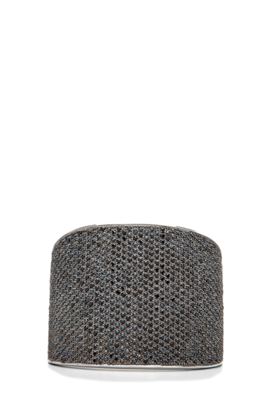 TOM BINNS | Bejeweled Plated Cuff in Black