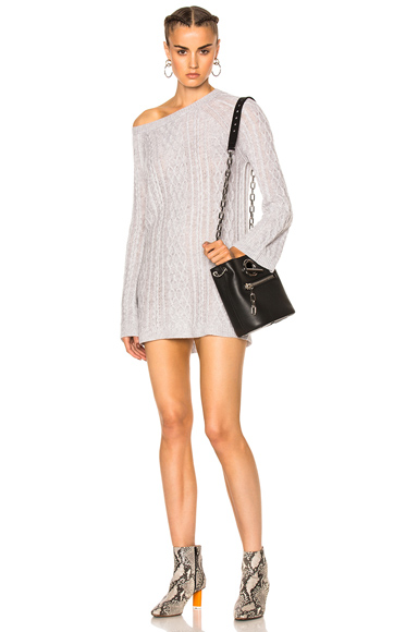 ThePerfext Natalie Cable Dress in Gray