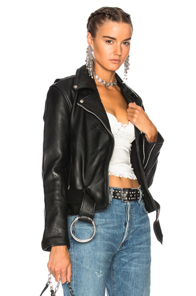Understated Leather Ultimate for FWRD Naked Cowhide Moto Jacket in Black