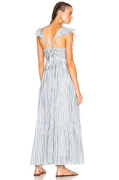 Ulla Johnson Ariane Dress in Blue, Stripes