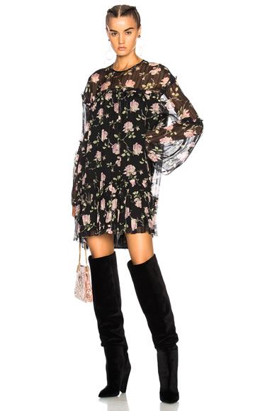 Ulla Johnson Dahlia Dress in Black, Floral