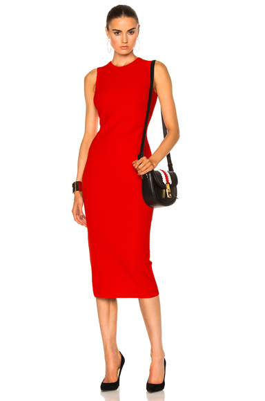 Victoria Beckham Elite Viscose Dress in Red