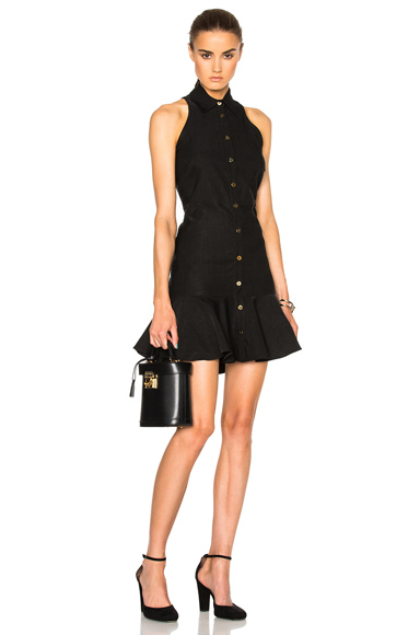 Veronica Beard Charlie Racerback Dress in Black