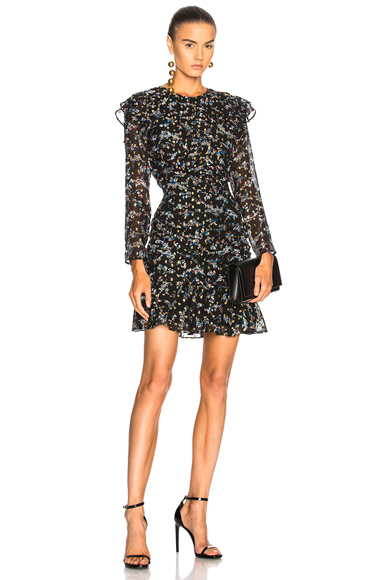 Veronica Beard Parc Dress in Black, Floral