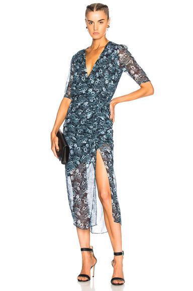 Veronica Beard Mariposa Dress in Abstract, Blue
