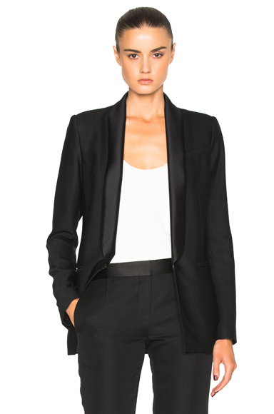 Veronica Beard Glastonbury Tuxedo Blazer in Black