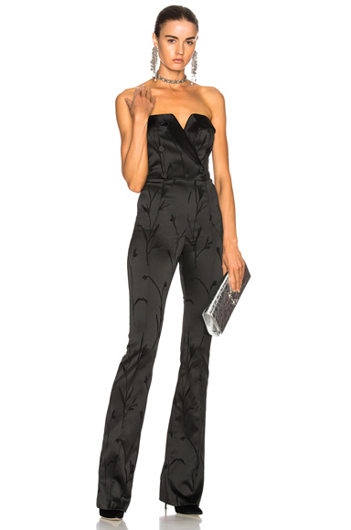 Veronica Beard Ryland Tux Jumpsuit in Black