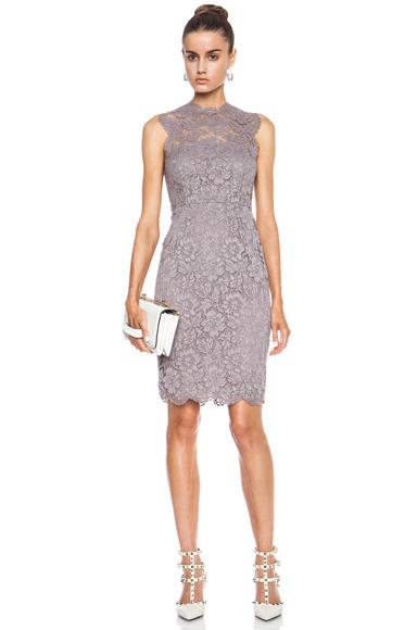 VALENTINO | Tubino Tank Lace Knit Dress in Lilac Grey