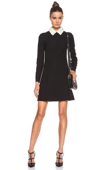 VALENTINO | Crepe Couture Sheath Dress in Black