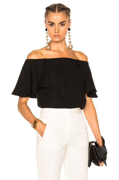 Valentino Off The Shoulder Top in Black. - size 8 (also in )