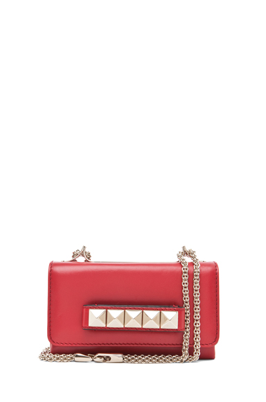 VALENTINO | Va Va Voom Mini Flap Bag in Red