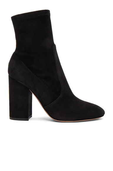 Valentino Suede Booties in Black