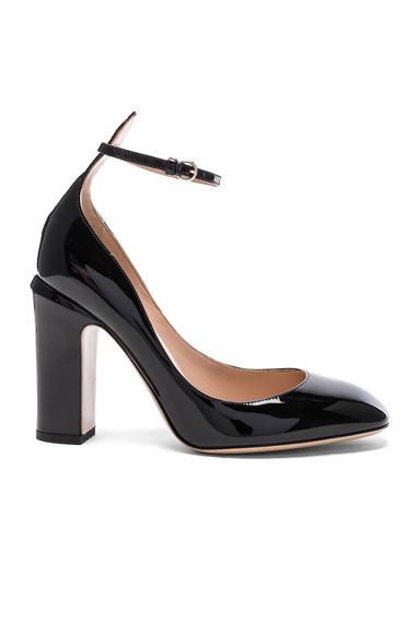 Valentino Patent Leather Tan-Go Pumps in Black