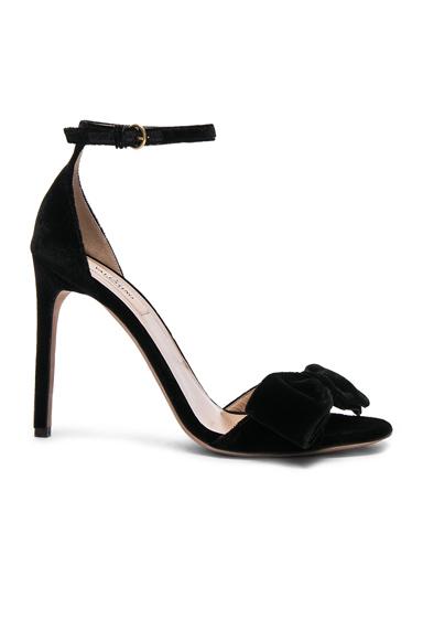 Valentino Velvet Bow Heels in Black