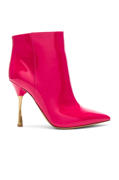 Valentino Patent Leather Ankle Boots in Pink