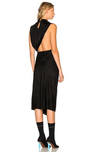 VETEMENTS Wrap Around Dress in Black