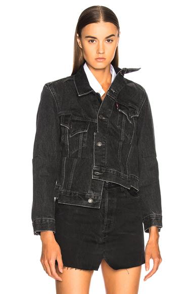 VETEMENTS Reworked Denim Jacket in Black, Gray