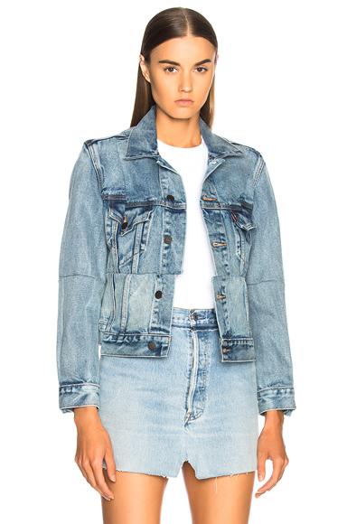 VETEMENTS Reworked Denim Jacket in Blue