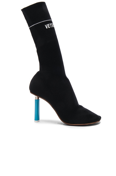 VETEMENTS Sock Ankle Boots in Black